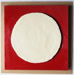 浮田要三 油彩『鉛の白丸』の写真